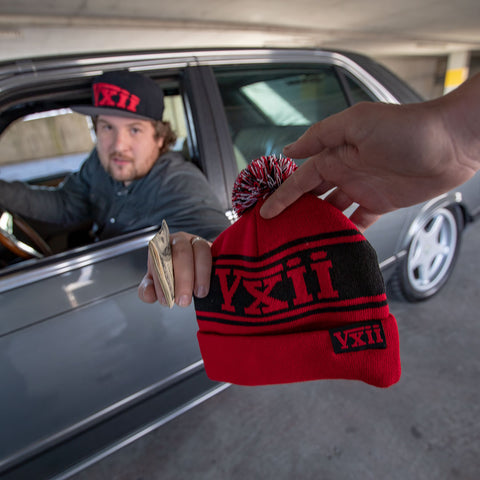 Image of vxii v12 lifestyle mens beanies maglia rossa hat dealer