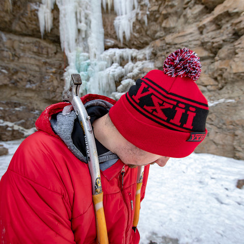 Image of vxii v12 lifestyle mens beanies maglia rossa ice climbing dirtcicle