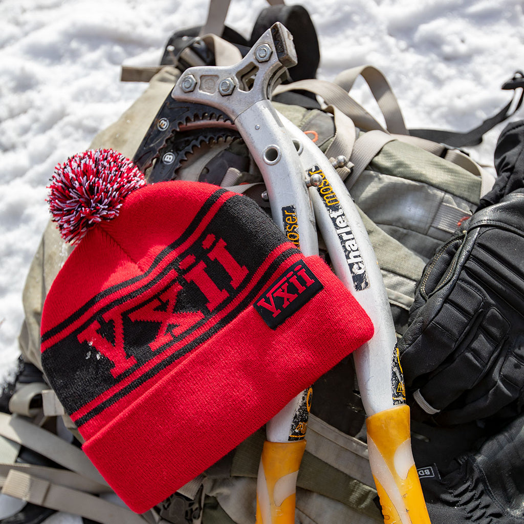 vxii v12 lifestyle mens beanies maglia rossa ice tools and pack