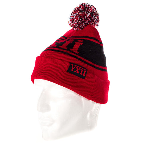 Image of vxii v12 lifestyle mens beanies maglia rossa side