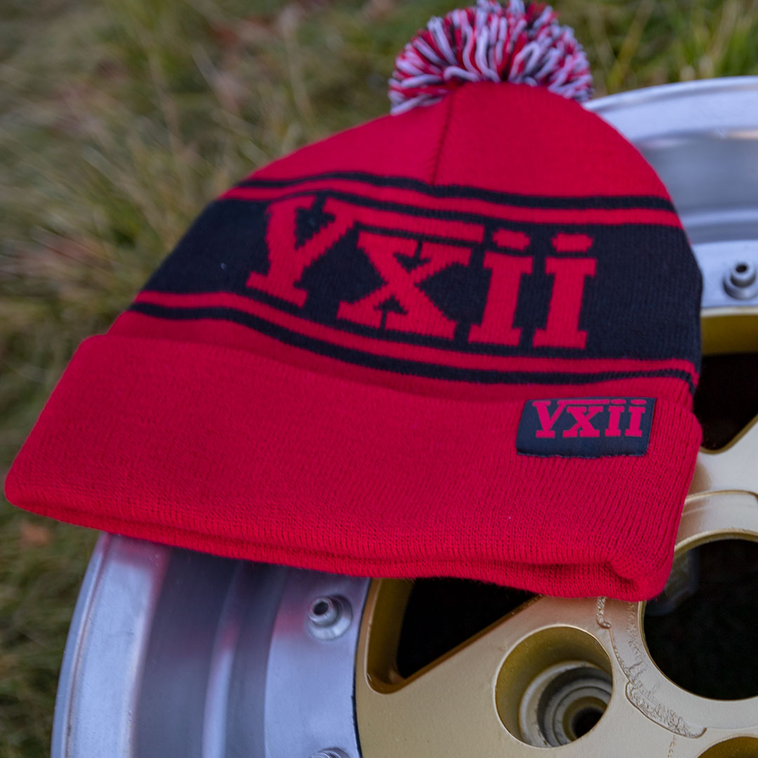 vxii v12 lifestyle mens beanies maglis rossa on a wheel