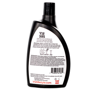 vxii v12 lifestyle mens grooming products 3 in 1 shampoo conditioner bodywash back