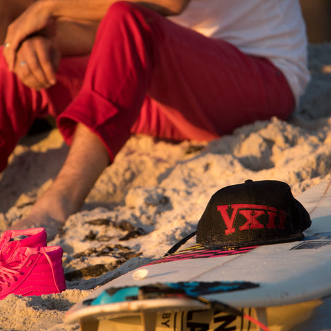 Image of vxii v12 lifestyle mens hats rosso fantastico surf board hat