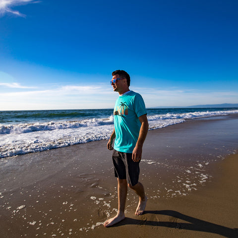 Image of vxii v12 lifestyle mens shirts fredman long walk on the beach
