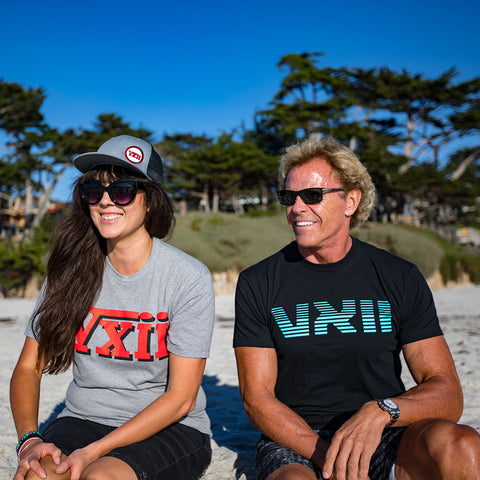Image of vxii v12 lifestyle mens tshirts rosso di mosto beach friends