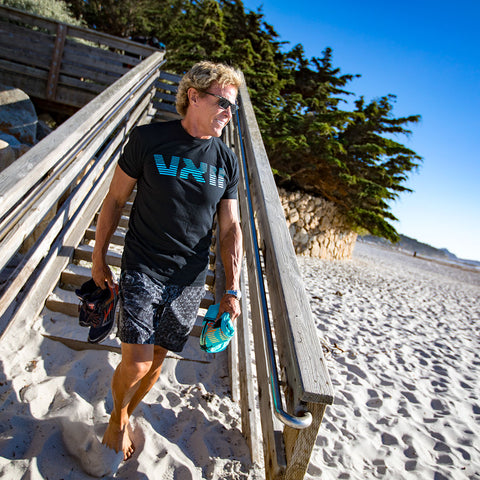 Image of vxii v12 lifestyle mens tshirts t1000 burton at the beach