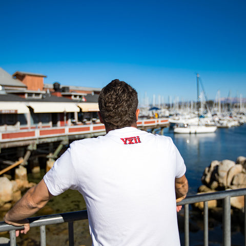 Image of vxii v12 lifestyle mens tshirts the burke back at the pier