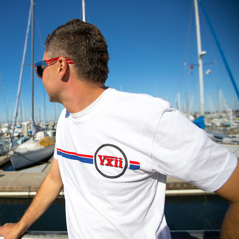 Image of vxii v12 lifestyle mens tshirts the burke sailboat docks