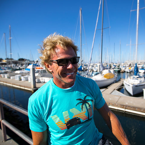 Image of vxii v12 lifestyle mens tshirts the fred man burton at the dock