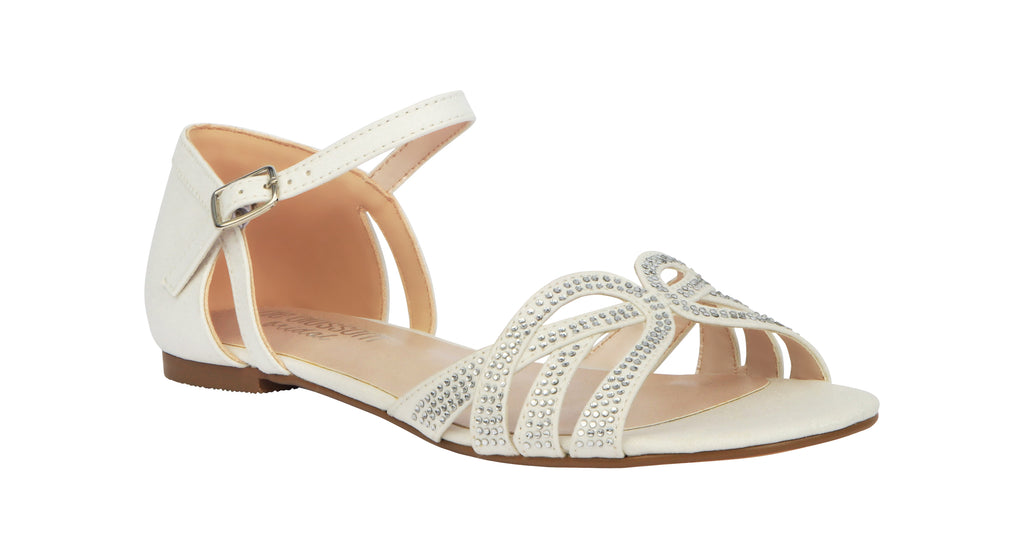 Melody-1B Bridal Sandal- White