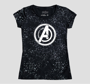 AVENGERS SPACE LOGO MUJER
