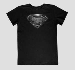 SUPERMAN BLACK LOGO NIÑO