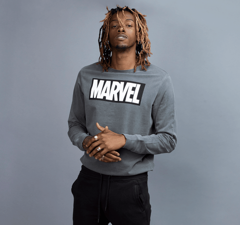 MARVEL BLACK LOGO PULLOVER