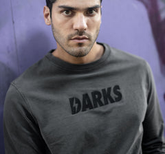 DARKS SUDADERA GRIS BASIC