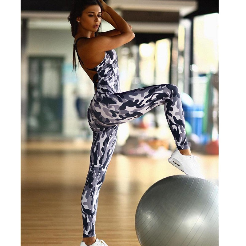 Sexy Camo Workout Jumpsuit Fitgirlcrush