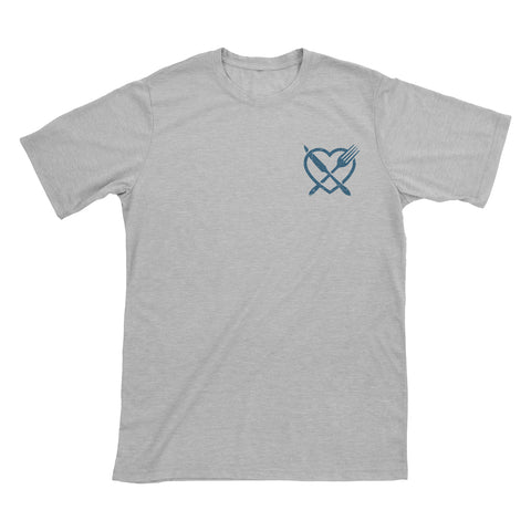 Spread The Love T-Shirt - White, Light Grey, Ash, Blue