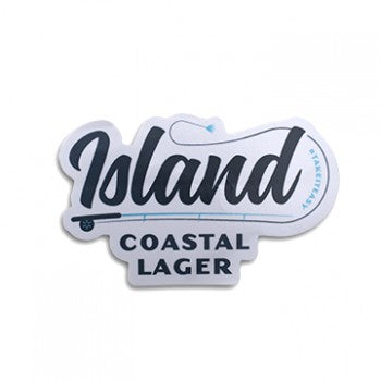 ICL Fishing Sticker White