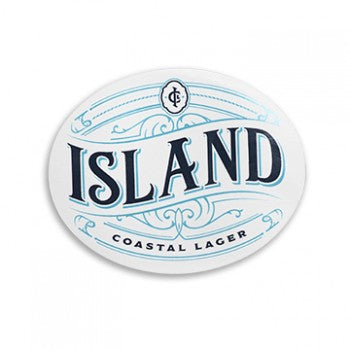 Island Coastal Lager Sticker