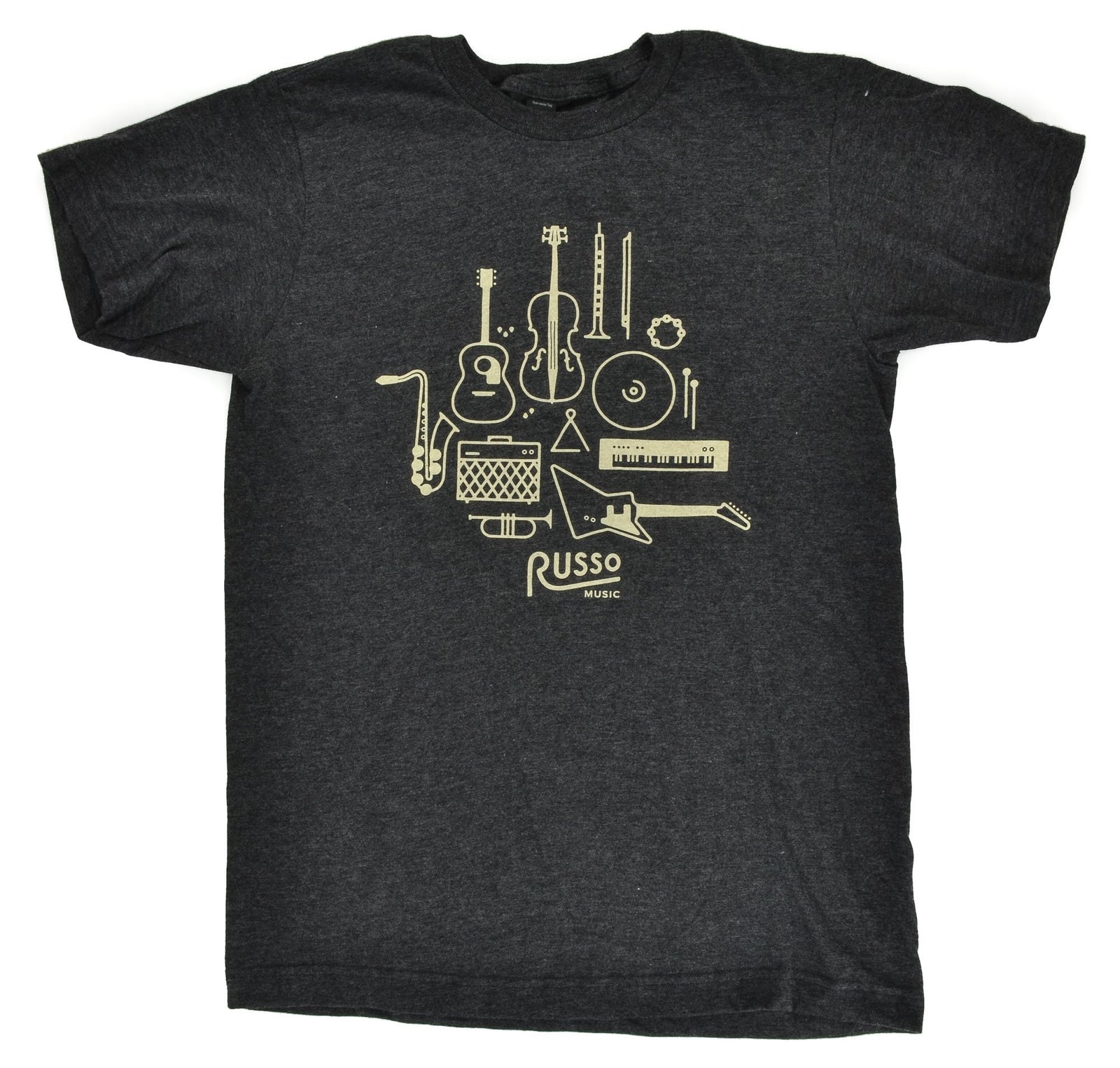 Russo Music 'Instruments' T-Shirt - Heather Graphite
