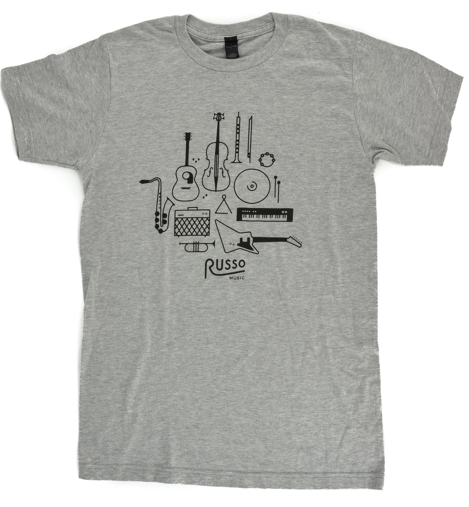Russo Music 'Instruments' T-Shirt - Heather Grey