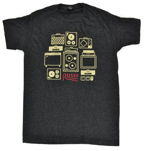 Russo Music 'Amps & Effects' T-Shirt - Heather Graphite
