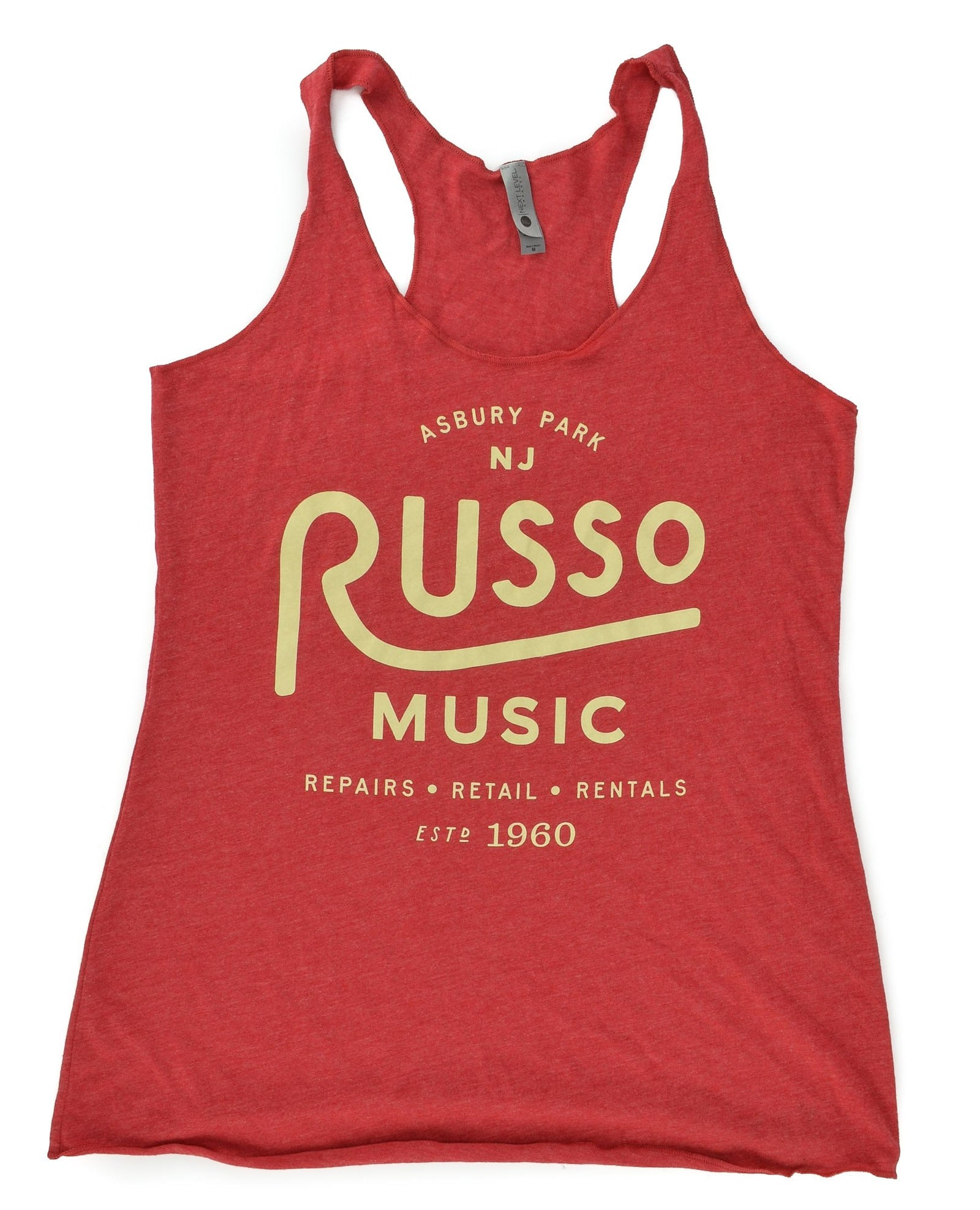 Russo Music 'Asbury Park' Racer Back Tank Top - Heather Red