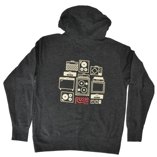 Russo Music Amps & Effects Hoodie - Charcoal Heather