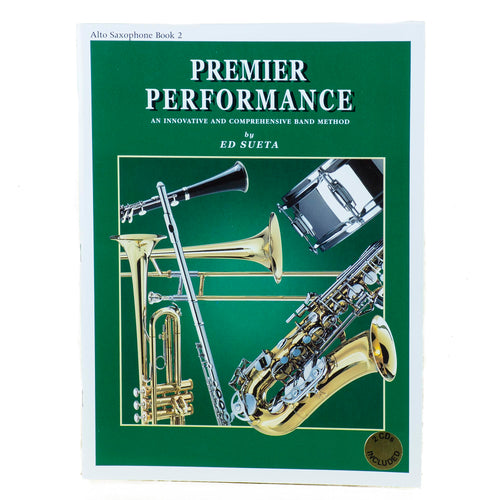 Premier Performance Alto Saxophone Book 2 With CD