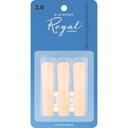 Royal by D'addario Bb Clarinet Reeds (3 Pack)