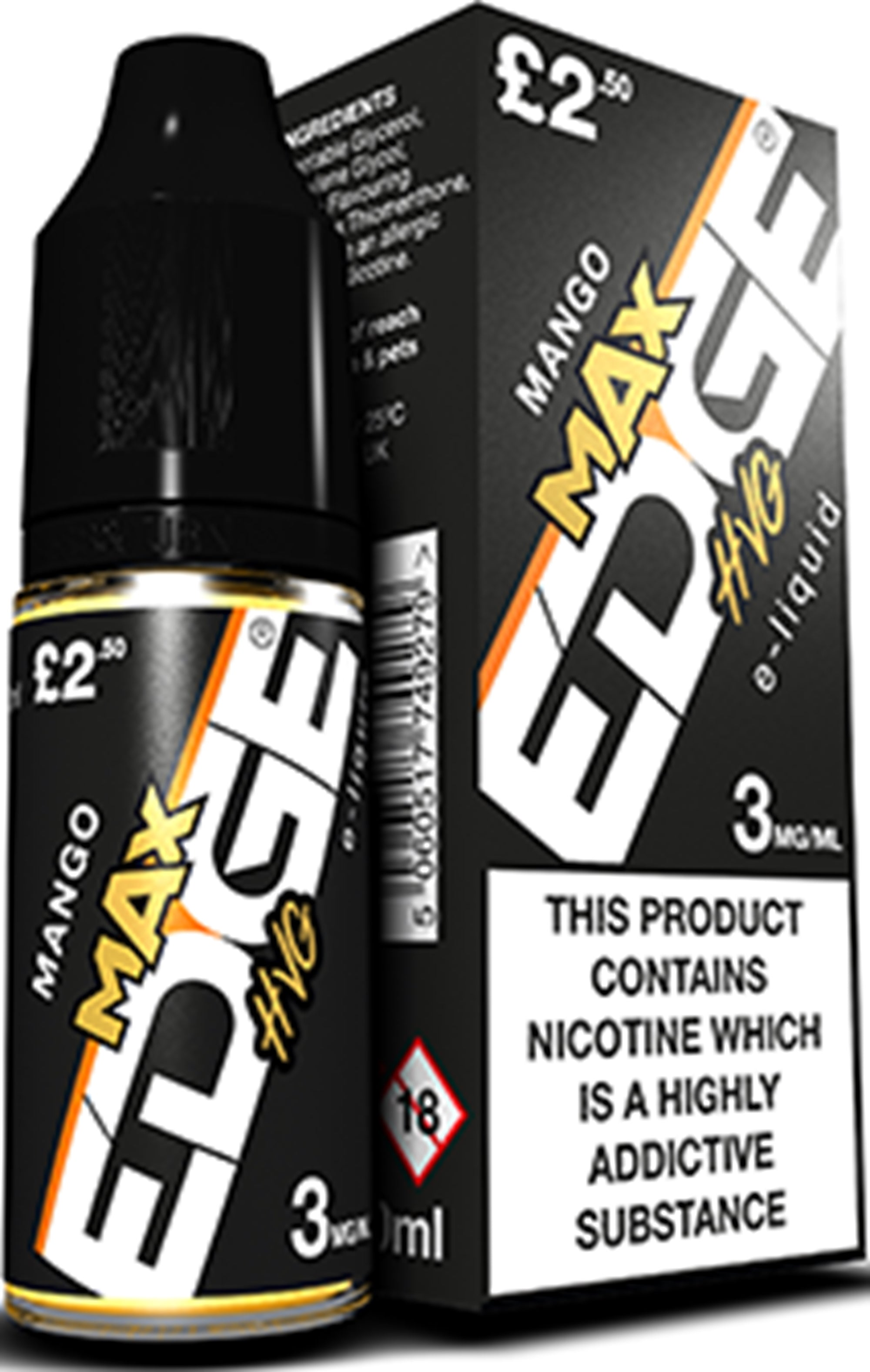 Edge Max HVG E-Liquid x 20 Bottles
