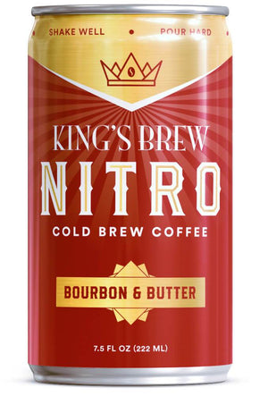 Bourbon & Butter, 7.5 oz Nitro Cold Brew, Case of 6