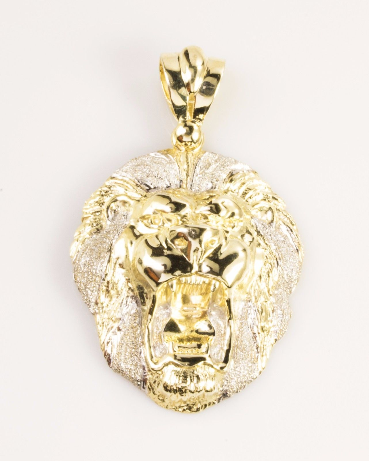 Real 10k Gold Diamond Cut LION FACE HEAD Pendant Piece – ALL ICE JEWELRY 05aed975af