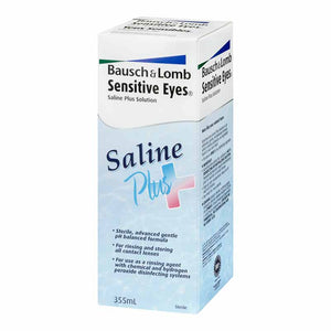 Bausch & Lomb Sensitive Eyes Saline Plus 355mL