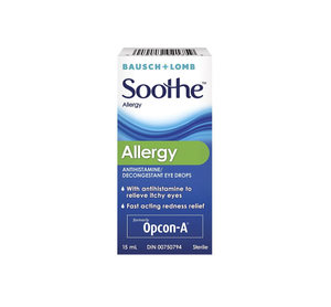 Bausch & Lomb Soothe Allergy Eye Drops 15mL