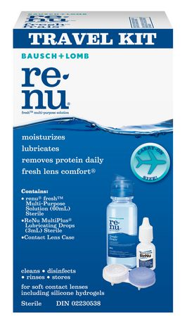 Bausch & Lomb Renu Multi-Purpose Contact Lens Solution Travel Kit