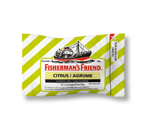 Fisherman's Friend Citrus Sucrose Free 22 Lozenges