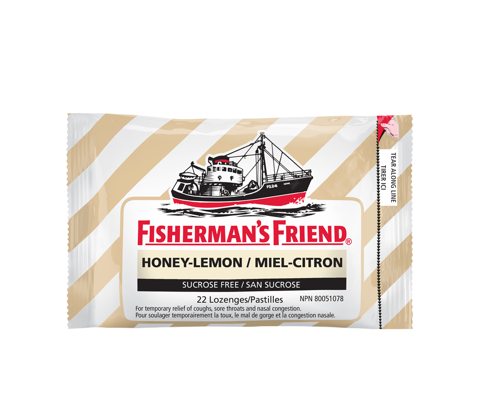 Fisherman's Friend Honey-Lemon Sucrose Free 22 Lozenges