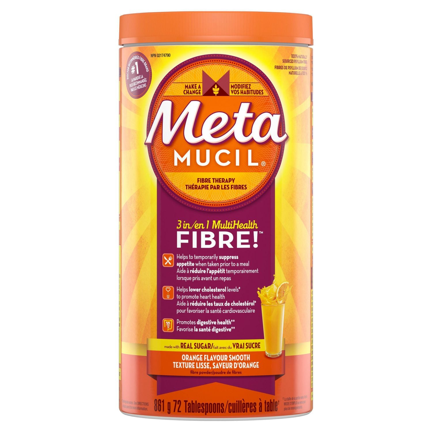 Metamucil Fibre Orange Flavour