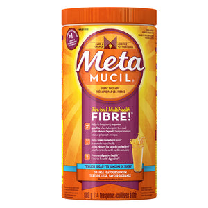 Metamucil Fibre Orange Flavour 75% Less Sugar