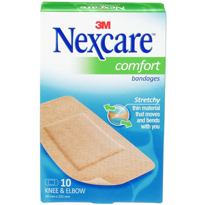 Nexcare Bandages Comfort 10 Knee and Elbow