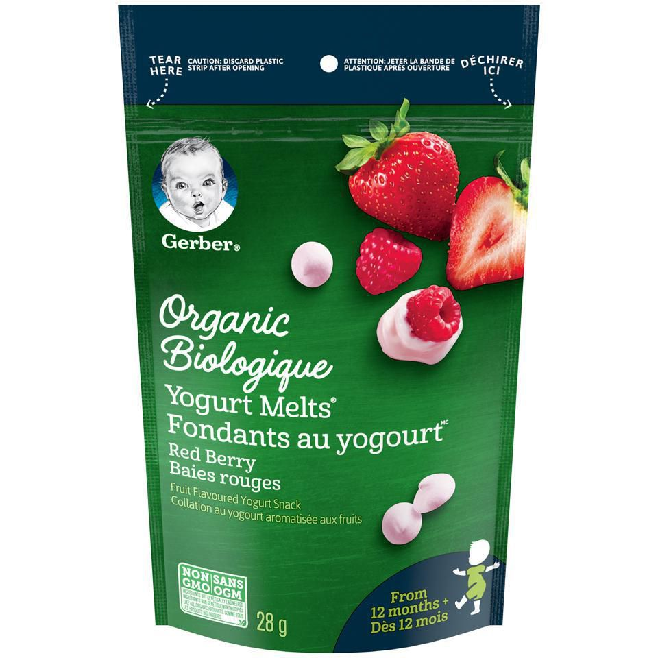Nestle Gerber Organic Yogurt Melts Red Berries 28g