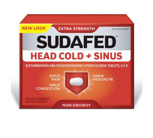 Sudafed Head Cold + Sinus 24 Caplets
