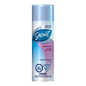 Secret Baby Powder Aerosol Antiperspirant 175mL