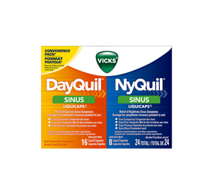 DayQuil & NyQuil Sinus LiquiCaps 24 Liquid Capsules (16 Daytime, 8 Nighttime)