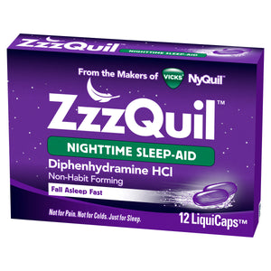 ZzzQuil Nighttime Sleep-Aid Liquid Capsules