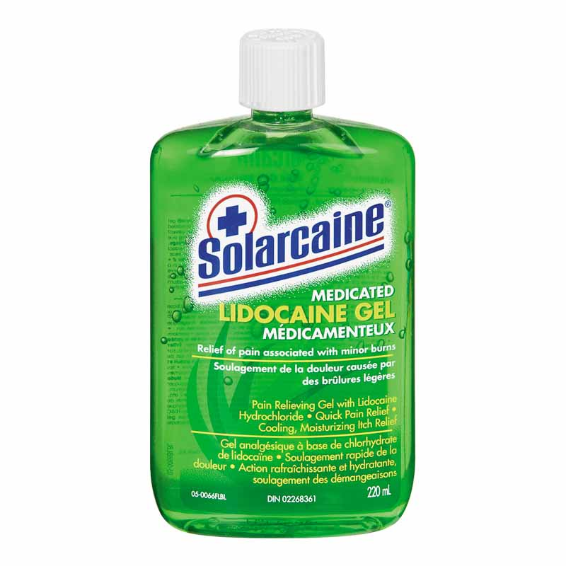 Solarcaine Medicated Lidocaine Gel 220mL