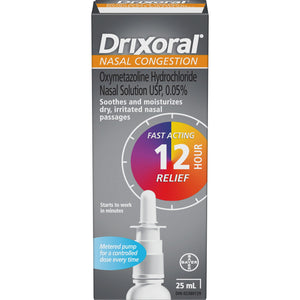 Drixoral Nasal Congestion 12 Hour Relief 25mL