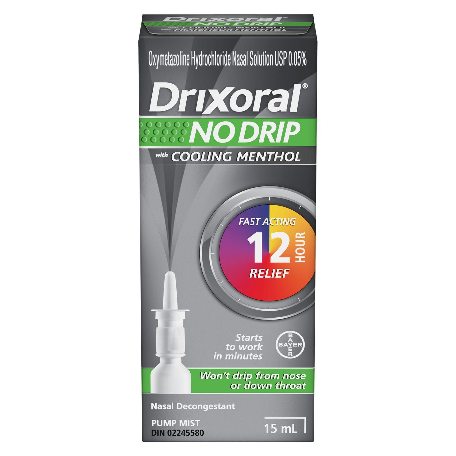 Drixoral No Drip with Cooling Menthol 15mL