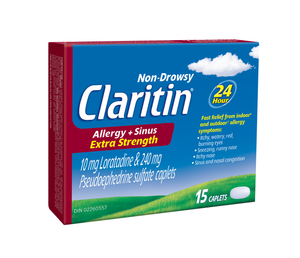 Claritin Allergy + Sinus Extra Strength 15 Caplets