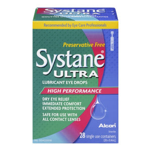 Systane Ultra Lubricant Eye Drops 28 Single Use Containers (28 x 0.4mL)